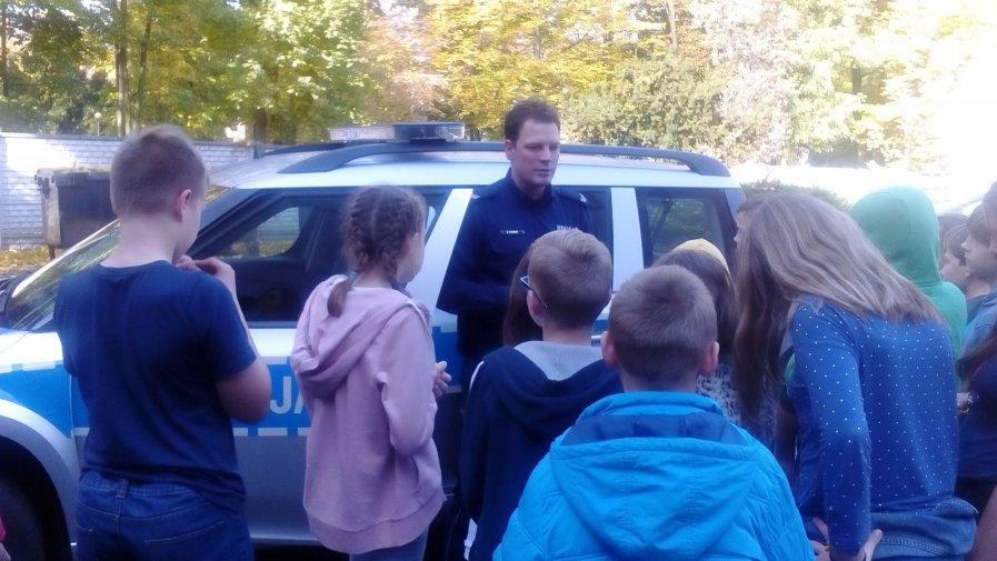 Klasa Vd z wizytą w Komisariacie Policji