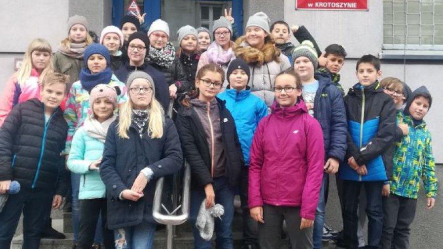 Uczniowie z wizytą w Krotoszyńskiej Komendzie Policji