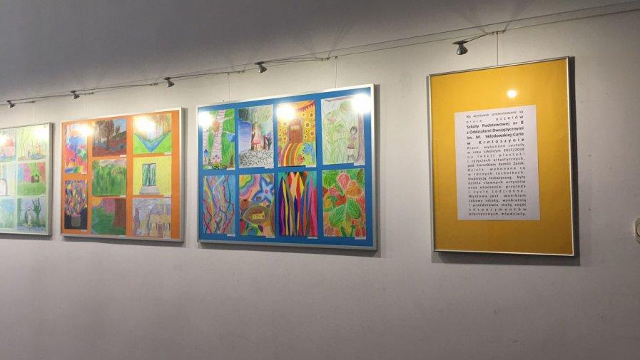 Prace naszych uczniów w Galerii Refektarz
